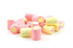 Pilha de marshmallows coloridos Imagem de Stock Royalty Free