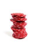 Pilha de microplaquetas do póquer Fotos de Stock