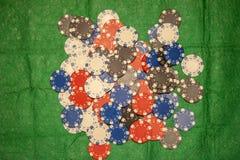 Pilha de microplaquetas de p?quer imagem de stock royalty free