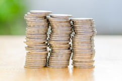 Pilha de moeda fotos de stock royalty free