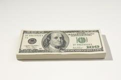 Pilha de moeda dos E.U. Imagens de Stock