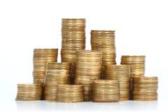 Pilha de moedas Fotos de Stock