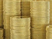 Pilha de moedas de ouro Imagem de Stock