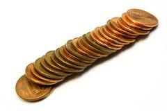 Pilha de moedas de um centavo Foto de Stock Royalty Free