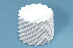 Pilha de muitos cartões do molde de papel à apresentação Foto de Stock