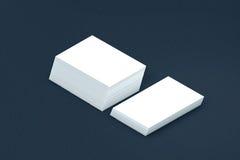 Pilha de muitos cartões do molde de papel à apresentação Imagens de Stock