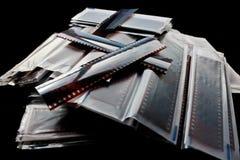 Pilha de negativos fotografia de stock royalty free