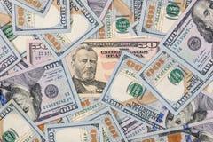 Pilha de $100 notas de dólar Imagens de Stock