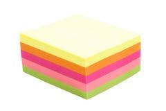 Pilha de notas da cor Foto de Stock