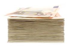 Pilha de notas de banco Foto de Stock