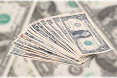 Pilha de notas de banco do dólar Imagens de Stock