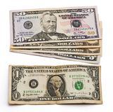 Pilha de notas de dólar Estados Unidos Foto de Stock Royalty Free