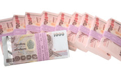 Pilha de notas do baht Fotos de Stock