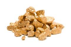 Pilha de Nuget do ouro imagem de stock royalty free