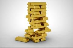 Pilha de ouro Foto de Stock