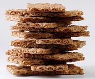 Pilha de pão estaladiço Fotografia de Stock Royalty Free
