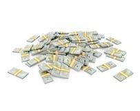 Pilha de pacotes do dólar Imagens de Stock