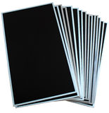 Pilha de painéis do lcd e do tft isolados no fundo branco foto de stock