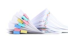 Pilha de papéis Foto de Stock