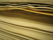 Pilha de papel Fotografia de Stock