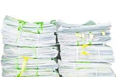 Pilha de papel Imagens de Stock