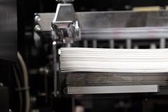 Pilha de papel em uma máquina impressora Imagem de Stock Royalty Free