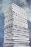 Pilha de papel enorme Foto de Stock