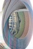 Pilha de papel moeda novo Imagens de Stock