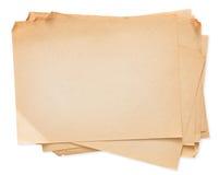 Pilha de papel velha isolada no fundo branco Imagens de Stock
