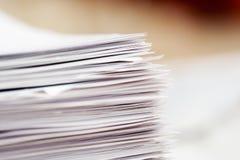 Pilha de papéis Fotografia de Stock