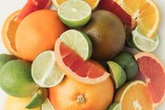 Pilha de partes dos citrinos Imagem de Stock