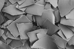 Pilha de partes de papel rasgadas Fotografia de Stock