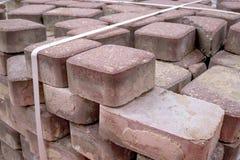 Pilha de pavimentar telhas imagem de stock royalty free