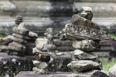 Pilha de pedras de Angkor Wat imagem de stock royalty free