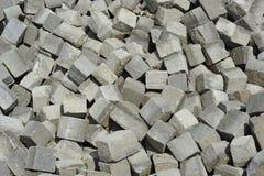 Pilha de pedras de pavimentação Fotografia de Stock