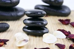 Pilha de pedras dos termas Imagens de Stock Royalty Free
