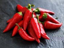 Pilha de pimentas picantes de fresno Fotos de Stock