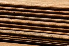 Pilha de placa de madeira Foto de Stock