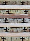 Pilha de placas de madeira velhas Fotografia de Stock Royalty Free