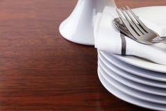 Pilha de placas de sobremesa Fotografia de Stock Royalty Free