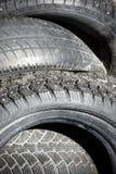 Pilha de pneus Foto de Stock