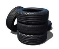 Pilha de pneus de carro com vários sulcos ilustração stock