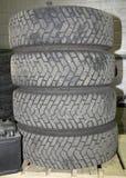 Pilha de pneus do verão Fotos de Stock Royalty Free