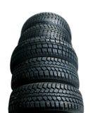 Pilha de pneus novos Foto de Stock Royalty Free