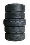Pilha de pneus novos Imagens de Stock