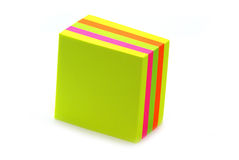 Pilha de post-it Fotografia de Stock