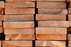 Pilha de pranchas da madeira Fotografia de Stock Royalty Free