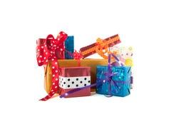 Pilha de presentes Fotos de Stock