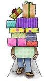 Pilha de presentes Imagens de Stock