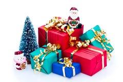 Pilha de presentes de Natal Imagem de Stock